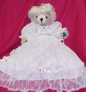 Plush Bear - White Satin & Lace