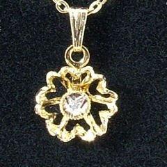 1pt Diamond Pendant