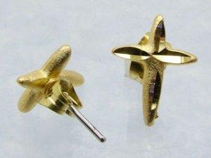 Goldtone Cross Earrings