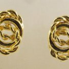 Vintage - Goldtone Twisted Rope Earrings