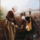 Lithograph Hazy Morn Planting Traditional Gallery Art Print Posters
