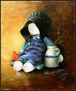 Friend & Butterfly Doll Toy Gallery Art Prints Wall Decor