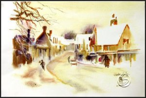 A Rendition of Yardley Cityscape Gallery Art Prints Wall Decor Home Office Posters