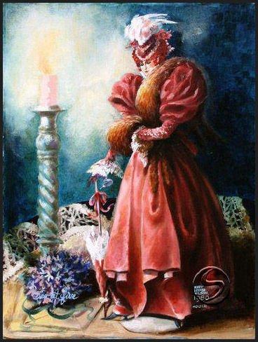 "Tea At 5 Contemporary Woman Art Print Wall Decorating 16""x20"""