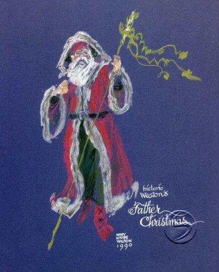 """Father Christmas Holidays Seasonal Santa Art Print 16""""x20"""" Poster"""