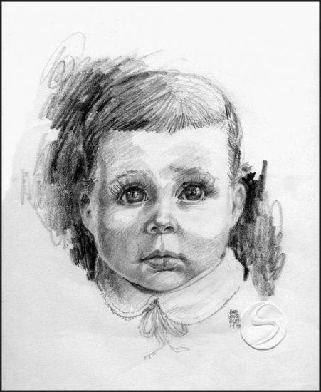 "Big Eyed Child Children Gallery Art Print Home Decorating 12""x16"" Poster"
