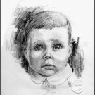 "Big Eyed Child Children Gallery Art Print Home Decorating 12""x16"" Poster"