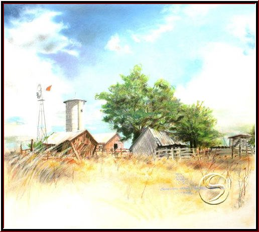 "Somewhere Near Smithville MO Gallery Art Pastel Landscape 16""x20"" Poster"