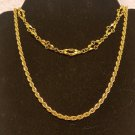 Vintage Trifari 2 lot necklace gold tone