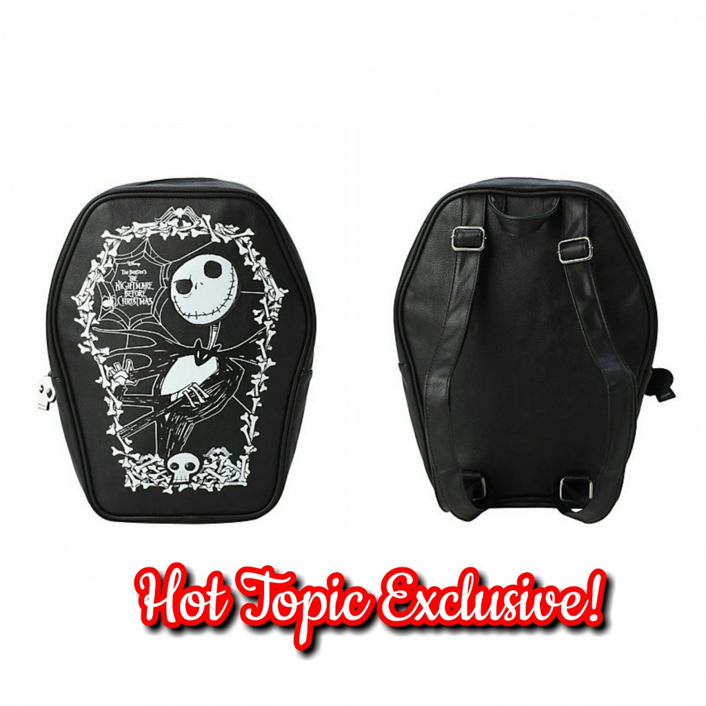 a25c00ac00 Hot Topic Loungefly Disney Nightmare Before Christmas Jack Skellington  Cameo Coffin Backpack