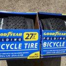"NEW Set of 2 - Goodyear 27.5"" x 2.0 Folding MTB Bicycle Tire Mountain BikeTires"