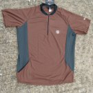 Canari RIdge Cycling Jersey Bike Bicycle - Men sz S - Brown Black Made in USA