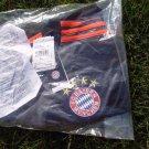 NEW adidas Bayern Munich Away Jersey 16 - 17 Youth X-Large YXL Black Grey orange