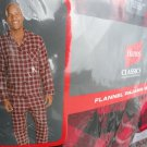 NEW Hanes Men's Pajama Set Red & Black Cotton Flannel Plaid Check S SMALL
