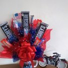 All-American Motorcycle Bouquet with Photo Holder And Mug