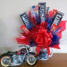 Motorcycle Bouquet with Bank And Mug