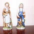 HOMCO Ceramics Old Couple Figurines #1409