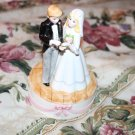 Ceramic Bride and Groom Music Box Ebeling & Reuss