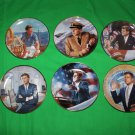 Franklin Mint JFK Collectible Plate Collection Set of 6