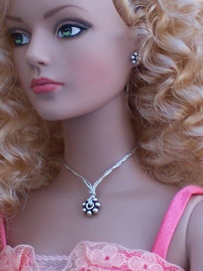 Sterling daisy set - Fashion Doll Jewelry