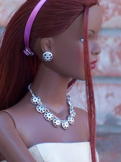 Silver Medallion set - Fashion Doll Jewelry