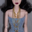 Gold Floss necklaces - 6 pc set - Fashion Doll Jewelry