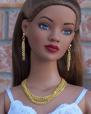 Triple layer gold chain - BJD and Fashion doll jewelry