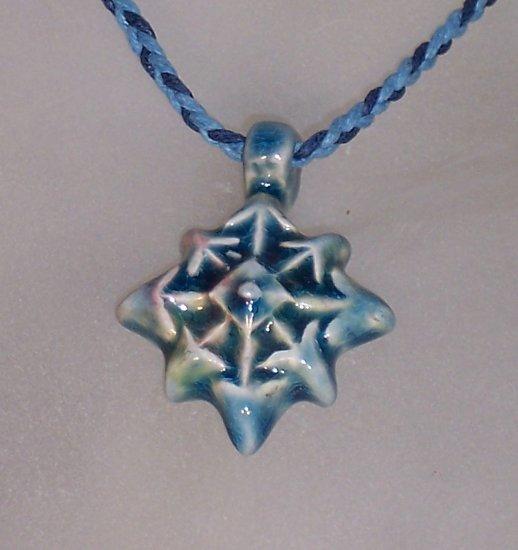 Blue ceramic pendant- Compass points