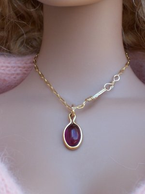 Garnet and gold-filled set - Fashion Doll Jewelry
