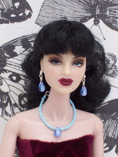 Light blue drop set - Fashion Doll Jewelry