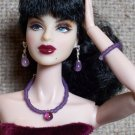 Grape bead drop set - Fashion Doll Jewelry