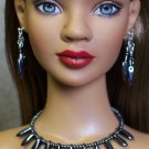 Gunmetal daggers collar - Fashion Doll Jewelry