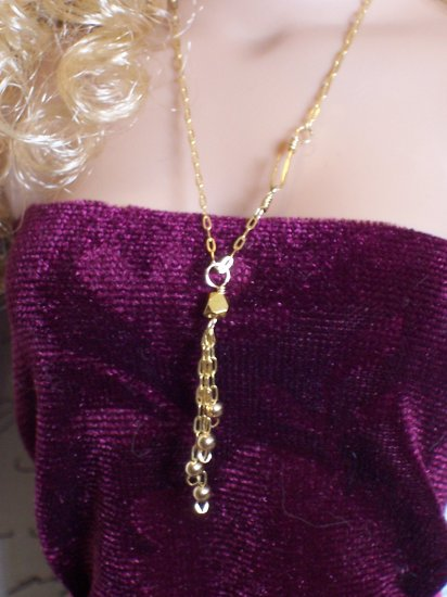 Beaded tassel necklace - Fashion Doll Jewelry