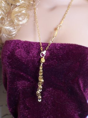 Beaded tassel necklace - Fashion Doll Jewelry