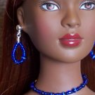 Royal Blue cat's eye set - Fashion Doll Jewelry
