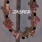 Leopardskin Jasper Cross bracelet - Faith bracelet