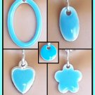 Sky Blue Easy Switch pendant set - Fashion Doll Jewelry