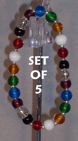 Colors of Faith bracelets - set of 5