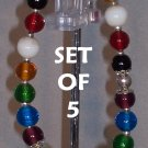 Colors of Faith bracelets - set of 5