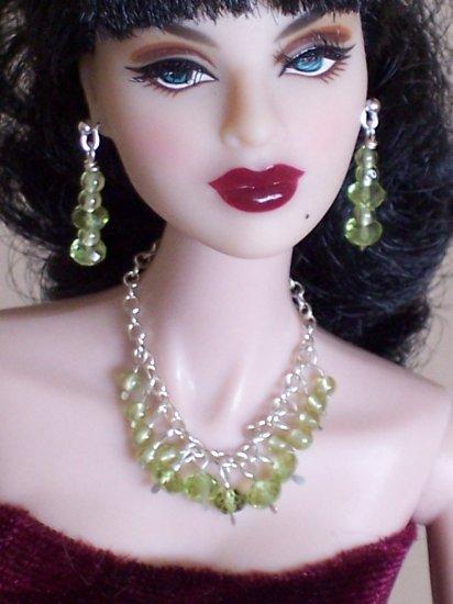 Peridot Drops - Fashion Doll Jewelry
