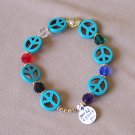 Peace and Faith bracelet - gold
