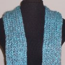 Blue tones boucle scarf with pockets!