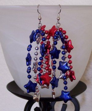 Patriot Dangler earrings
