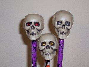 Spooky Pens - set of 5 Skulls