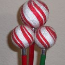 Peppermint Twist Globe Pens - set of 3