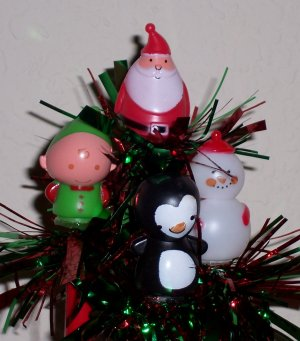Christmas springy Characters - set of 4 Pens
