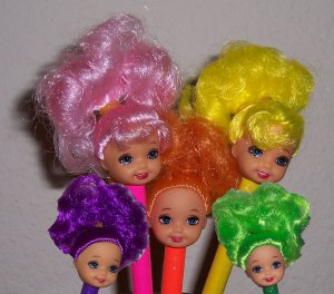 Doll Head Pens - set of 5