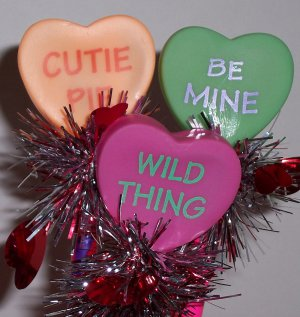 Valentine springy pens -6 Candy hearts style