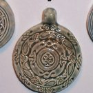 Blue ceramic pendant- Concentric Celtic Motif