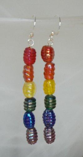 Rainbow Barrel Earrings